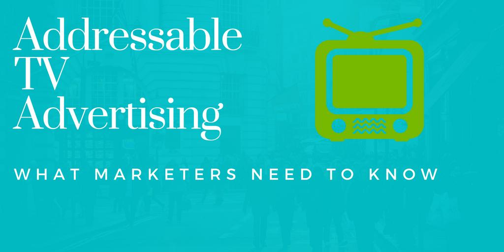 Addressable tv advertising
